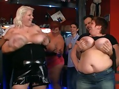 Fat ladies have funtime at the party