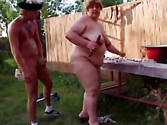 A guy has sex with a fat woman