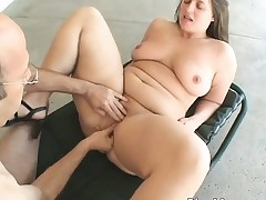 Sexually aroused promiscuous chubby brunette bitch