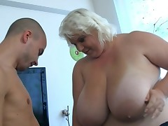 Oustanding blond honey has doggystyled