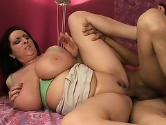 Kitty's huge tits shake and jiggle as her sweet pussy gets pounded deep and firm