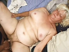 Fat blonde granny Vicky Salas getting nailed firm by a youthfull stallion