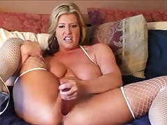 Nasty mom fuck her cunt and dirty chatting