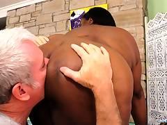Black Bbw Olivia Leigh Scorching Massage