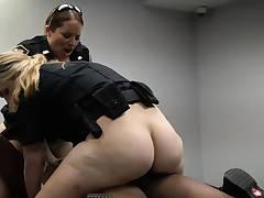 Sucks white dick and black girl double anal xxx Milf Cops