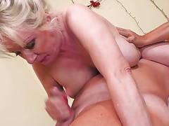Big granny gets rubdown and deep penetration