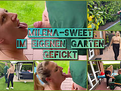 MilenaSweet nailed by her own gardener