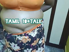 Tamil Chennai aunty changes saree after tart's