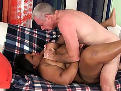 Seized BBW Peaches Love Takes White Cock