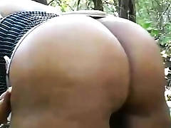 nude ass in the woods