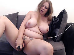 Busty BBW solo act