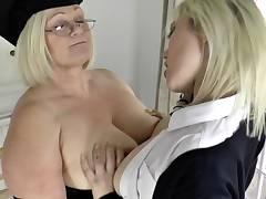 Mature lesbian headmistress rims nuts