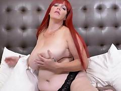 EuropeMaturE Huge Arched of Big Redhead Mature