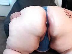 BBW stretched butt plug panty
