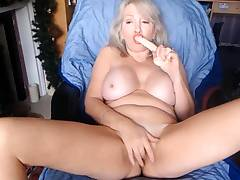 Gray-haired mature milf ChristieX  is open to your fantasies
