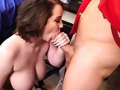 Beautiful Cockblowers Huge Hooters Rides Fake Dick