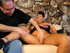 AmateurEuro - German granny Heike W. rides a rock hard cock