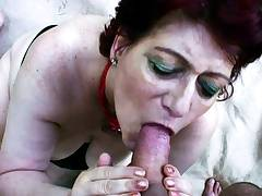 75yr OLD REDHEAD GRANDMA GET POV OUTDOOR SEX BY YOUNG GUY