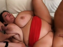 Chubby old Tracy needs a lot of stud meat to satisfy her desires