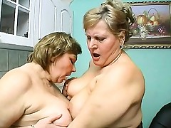 Old hoochie mamas get together to pleasure their massive figures