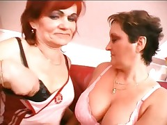 Lesbian grannies pussy and tits licking part4