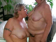 OldNanny Chubby fat granny and fat mature suck dick and take up with the tongue pussy