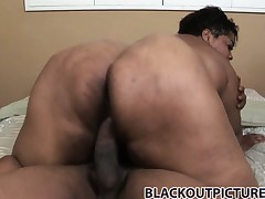 All over the bed, Trixie has that black cock providing the enjoyment she desires