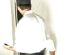 Slim Twink Tastes Jail Guard's Big Plump Cock