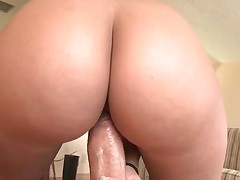 Young girls take giant dongs