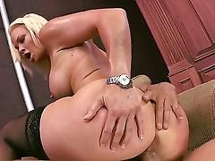 Rhylee is pumped hard by Tommy freaking her wet cum dump.