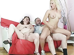 Golden-Haired sucks cock from his grandfather
