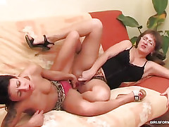 In her unfathomable cum-hole shoves a plaything