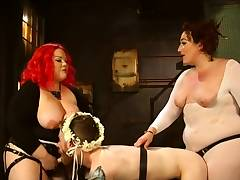 April Flores and Mimosa Strapon Fuck Guy