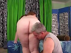 Harsh Rubdown for Fat Slut Ginger Rose